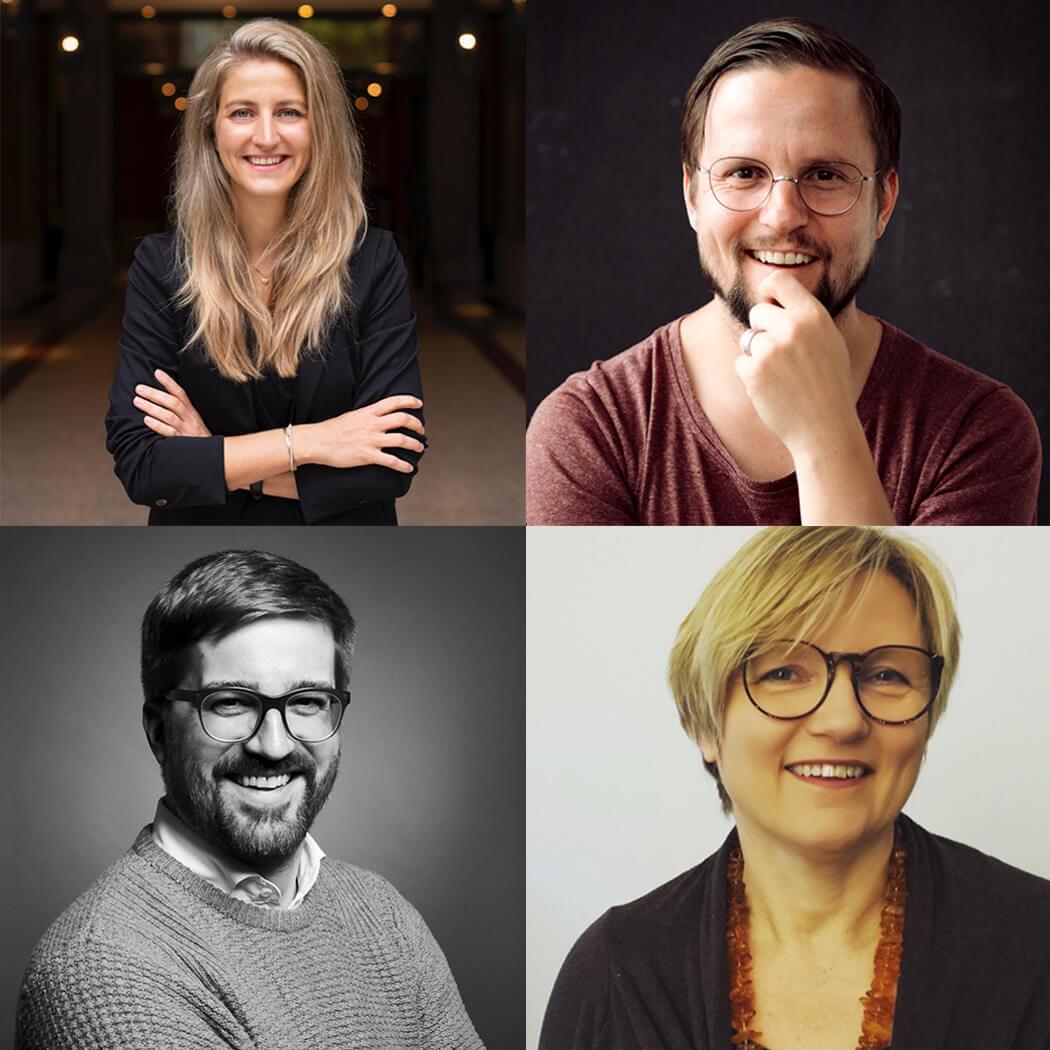Die Initiatoren von Redezeit: Annika Reiß, Florian Schleinig, Christian Stegemann und Ute von Chamier - #virtualsupporttalks - leadership lernen - online coaching - REDEZEIT fuer dich
